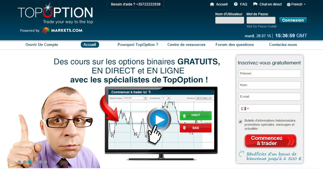 Plateforme de trading option binaire
